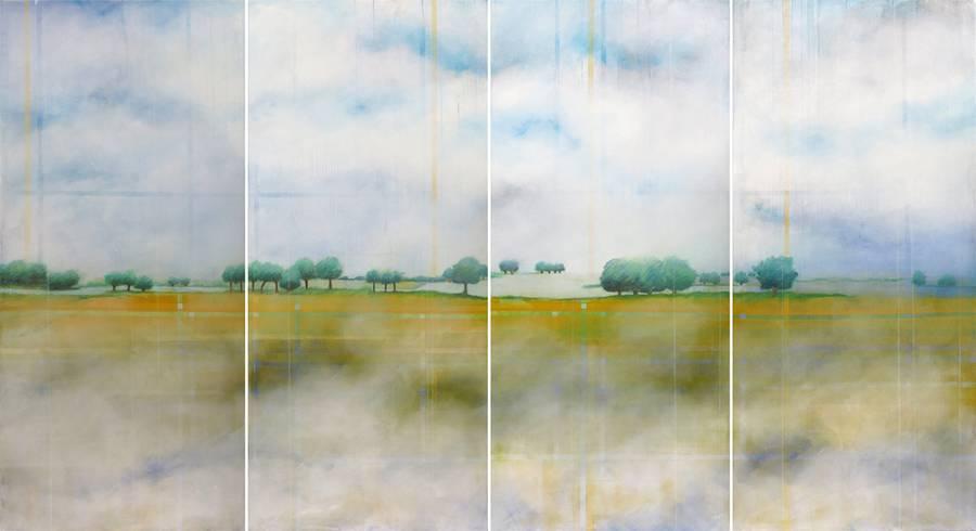 ``durchwebtes Land``- Skadi Engeln - Malerei und Druckgrafik Zionskirche Berlin 24.4.-5.6.16